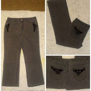 Christopher & Banks grey jeans
